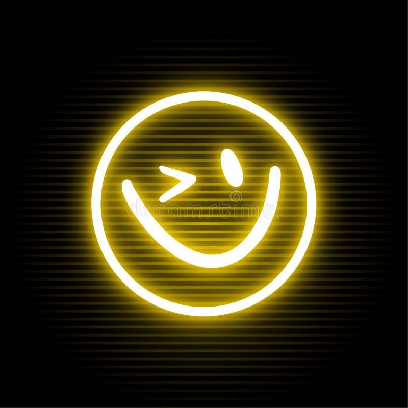 Fronte al neon felice illustrazione vettoriale