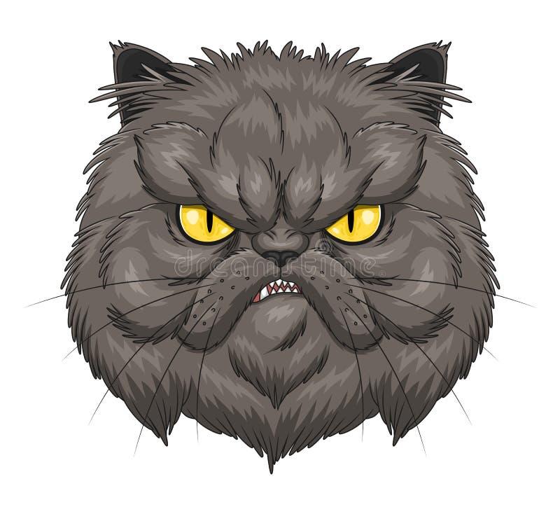 Fronte arrabbiato del gatto persiano royalty illustrazione gratis