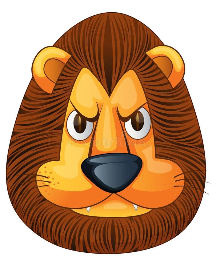 Fronte arrabbiato del leone illustrazione vettoriale