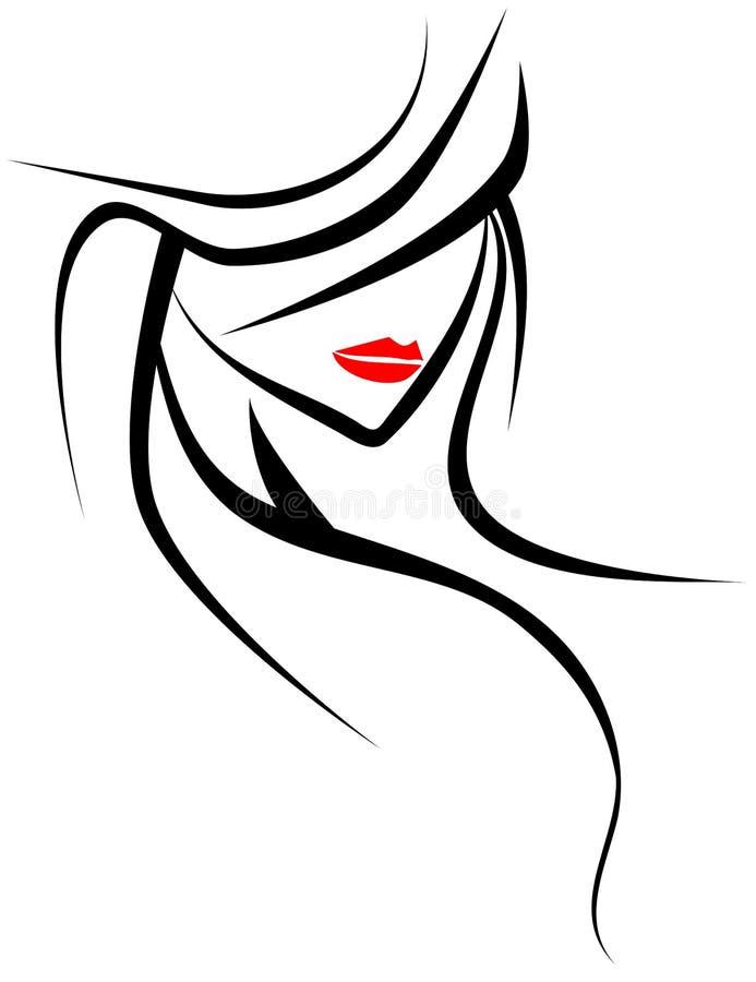 Fronte artistico della donna royalty illustrazione gratis