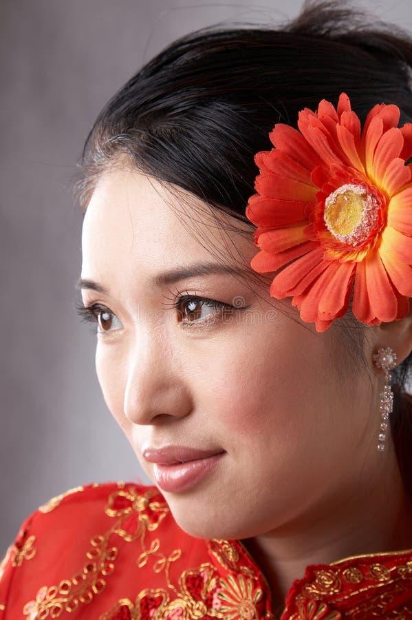 Fronte asiatico della donna fotografia stock libera da diritti
