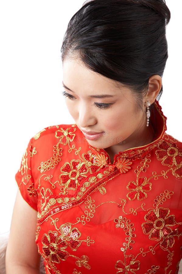 Fronte asiatico della donna fotografia stock