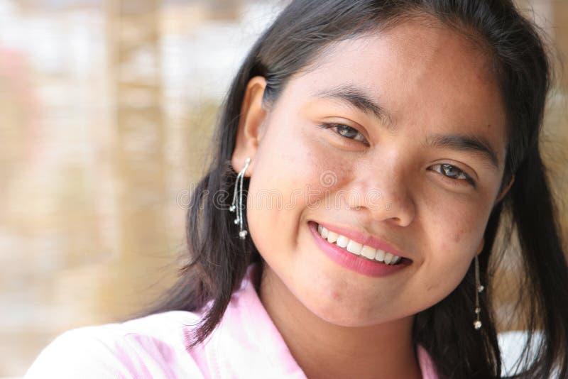 Fronte asiatico felice fotografia stock libera da diritti