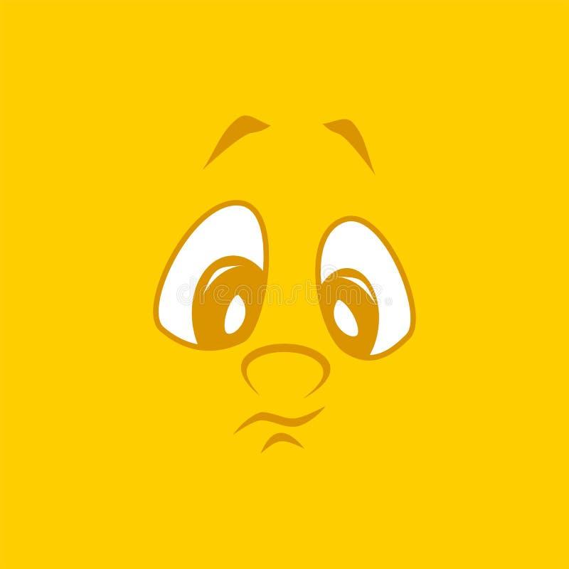 Fronte attraente piacevole adorabile su un fondo giallo illustrazione vettoriale