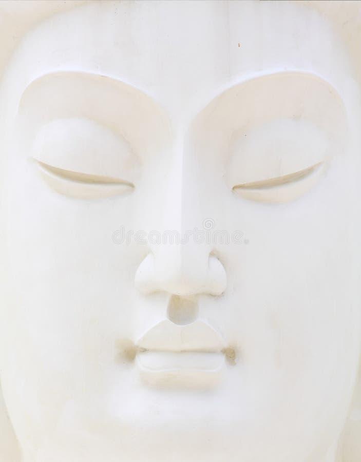 Fronte bianco del buddha fotografie stock libere da diritti