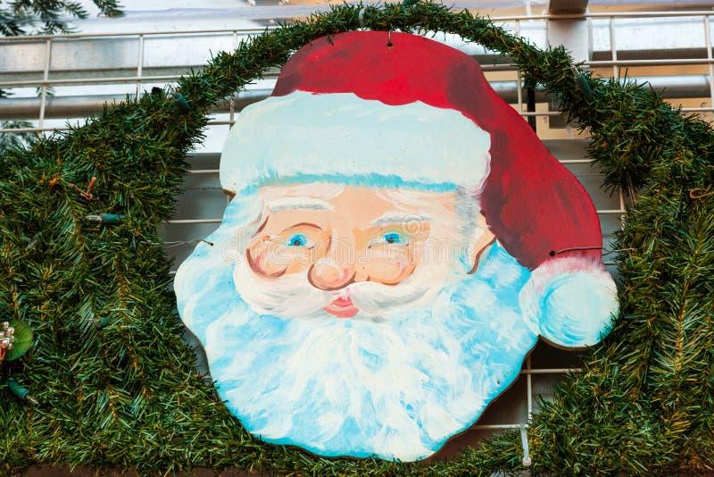 Fronte del Babbo Natale Buon Natale immagine stock