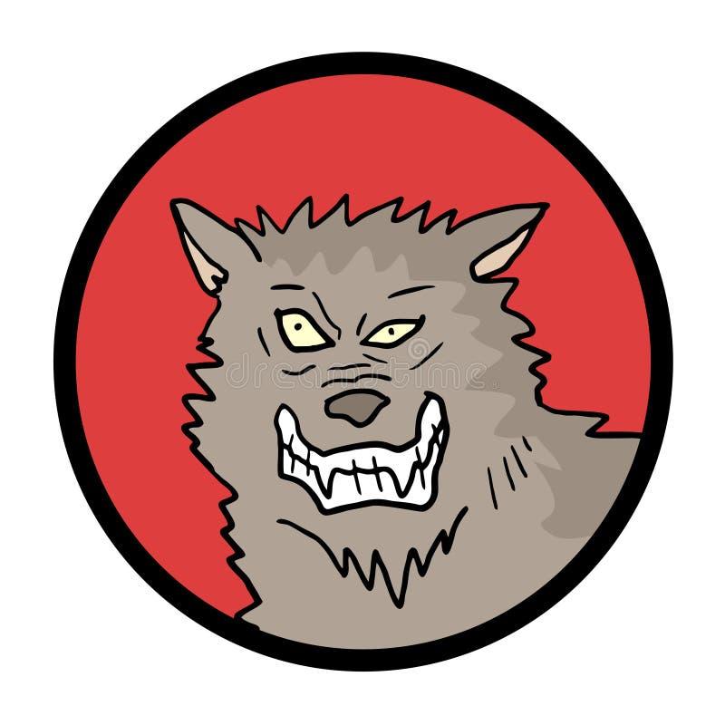 Download Fronte del lupo illustrazione vettoriale. Illustrazione di testa - 55356539