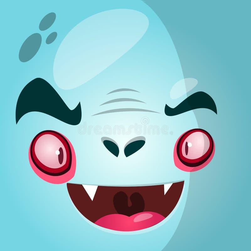 Fronte del vampiro del fumetto Illustrazione di vettore di Halloween illustrazione vettoriale