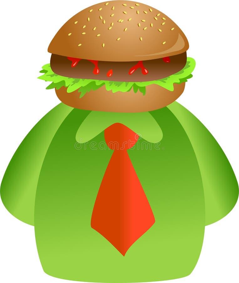 Fronte dell'hamburger royalty illustrazione gratis