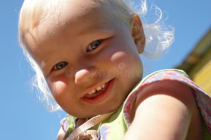 Fronte dell'infanzia fotografie stock libere da diritti