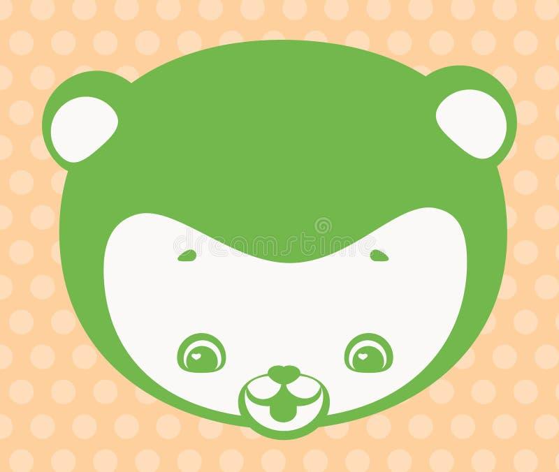 Fronte dell'orso divertente illustrazione vettoriale
