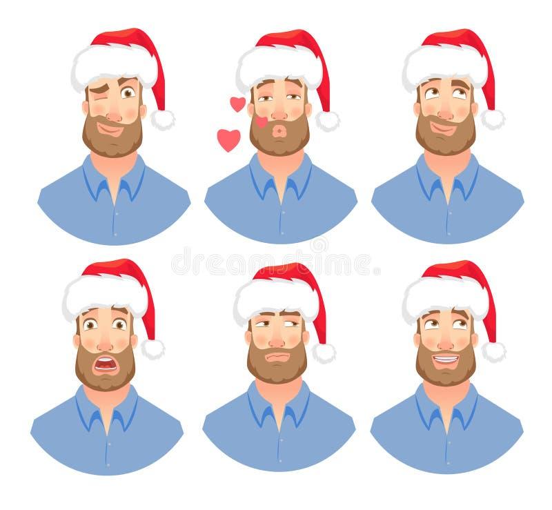 Fronte dell'uomo con la barba royalty illustrazione gratis