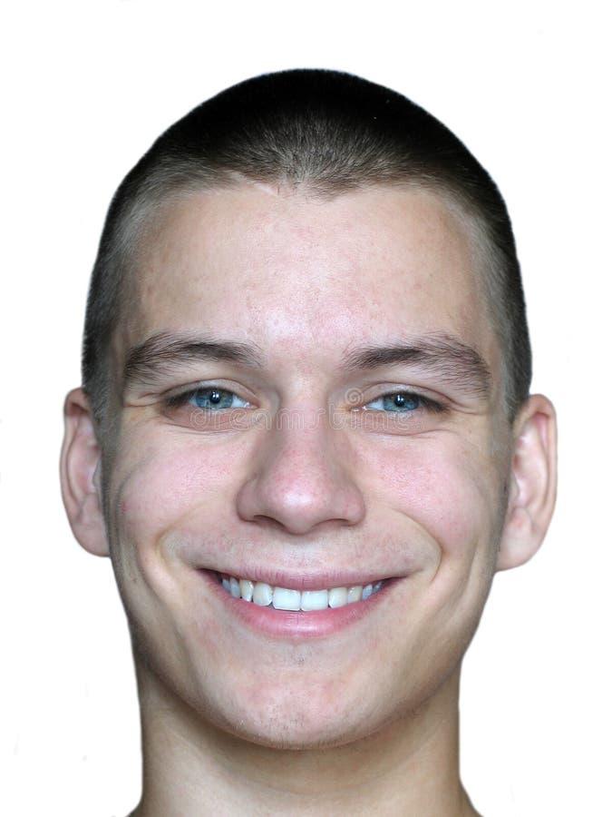 Fronte dell'uomo sorridente immagini stock libere da diritti