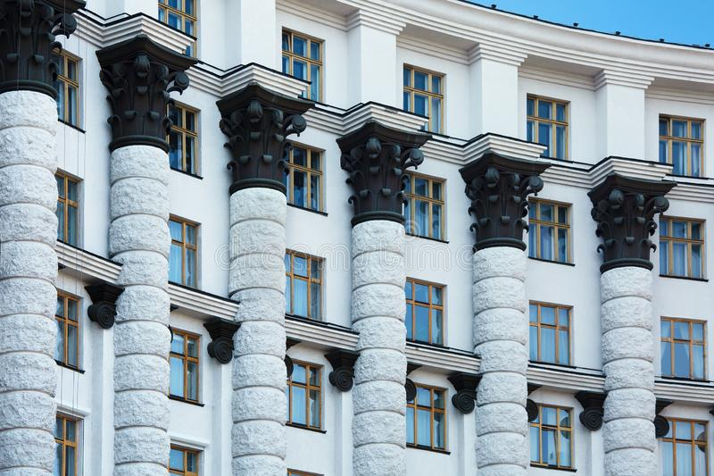 Fronte della costruzione amministrativa a Kiev, Ucraina fotografie stock