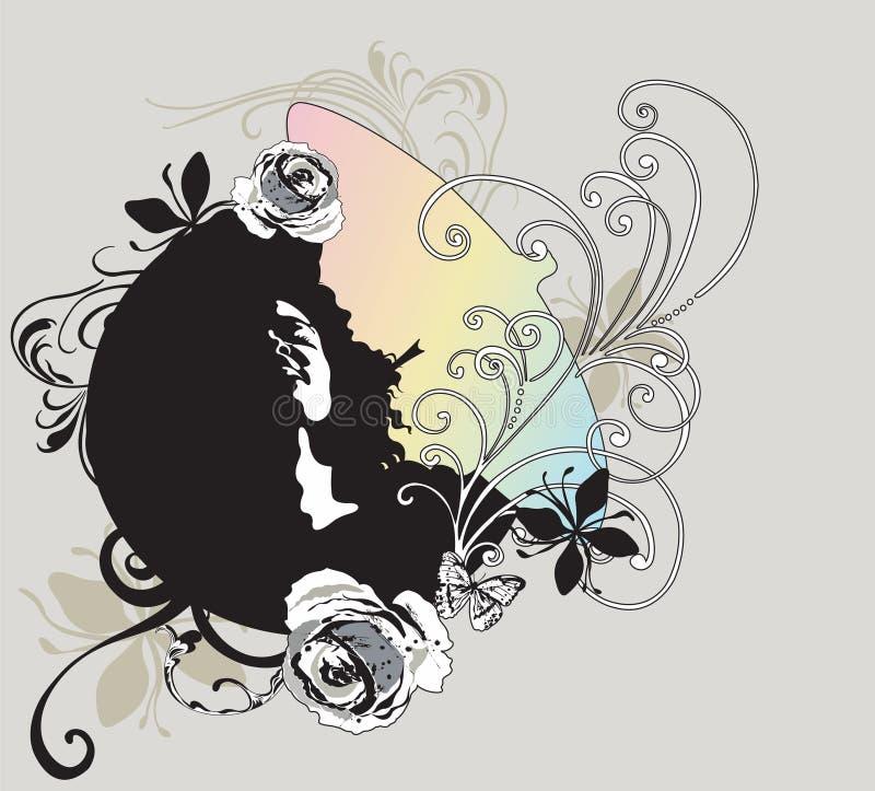 Fronte della donna royalty illustrazione gratis