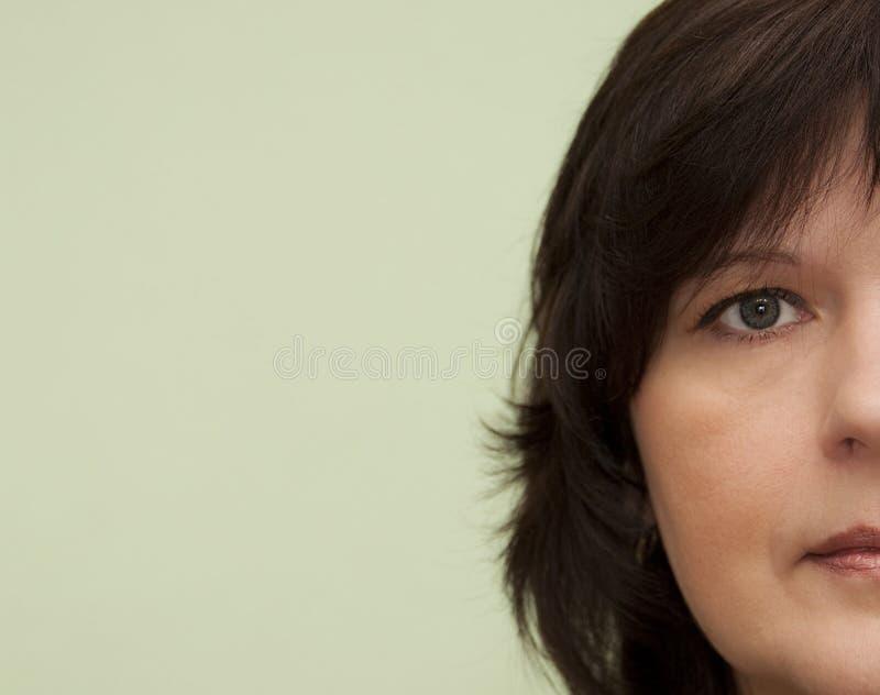 Fronte della donna fotografie stock