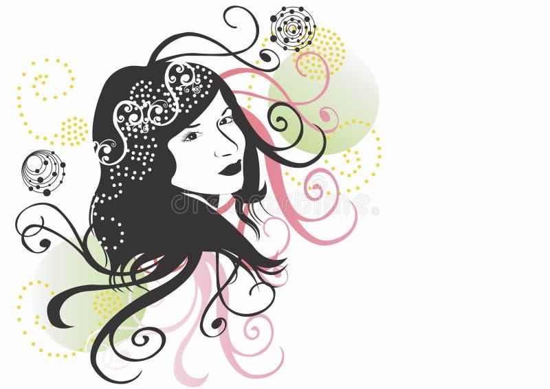Fronte della donna illustrazione vettoriale
