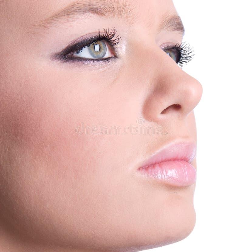 Download Fronte Della Donna Con Il Primo Piano Di Trucco Immagine Stock - Immagine di sguardo, modello: 3879337