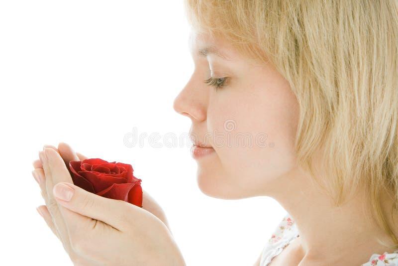 Fronte della donna del yaoung del primo piano immagine stock