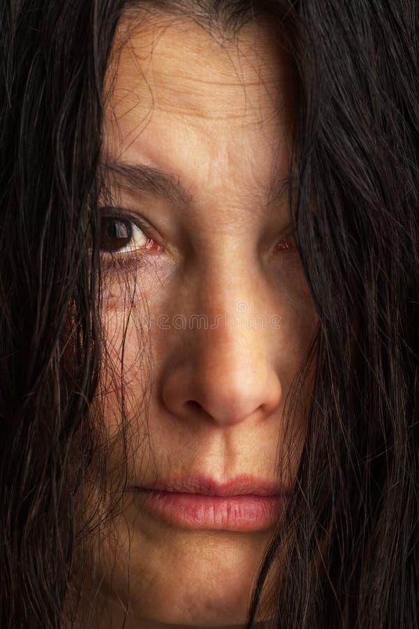 Fronte della espressione-donna di emozione fotografie stock