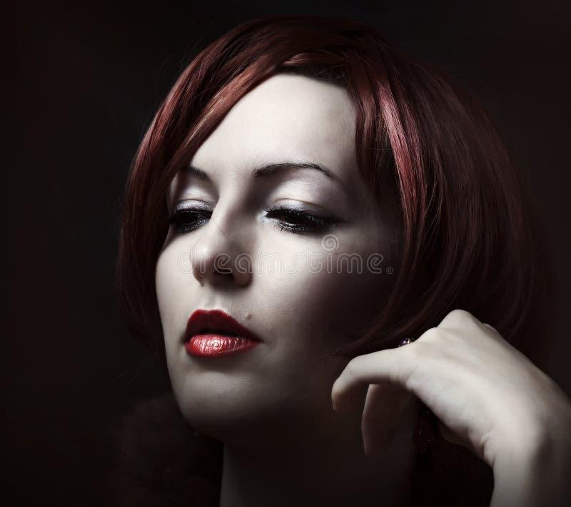 Fronte della femmina di bellezza. fotografia stock libera da diritti