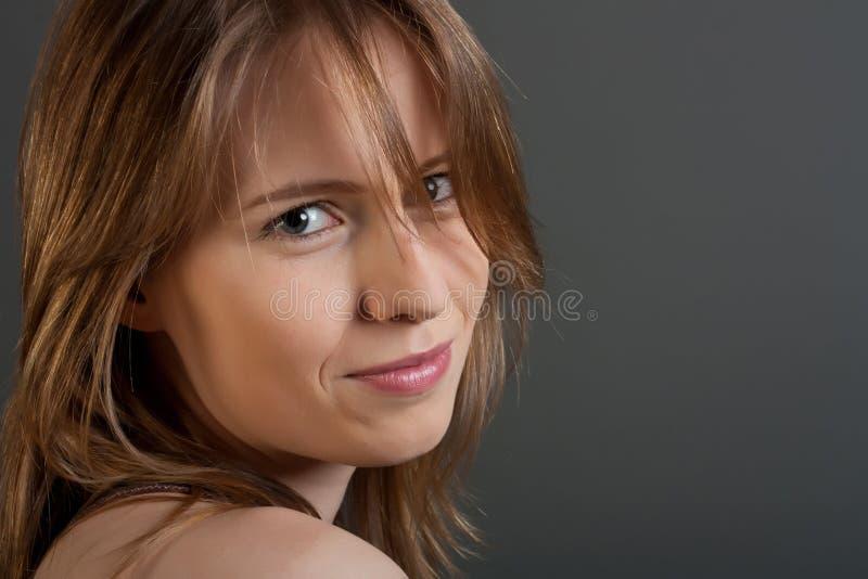Fronte della giovane donna immagini stock libere da diritti