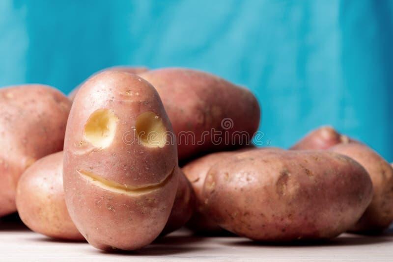 Fronte della patata sulle patate rosse, utilità delle verdure e verdure accessibili fotografie stock libere da diritti