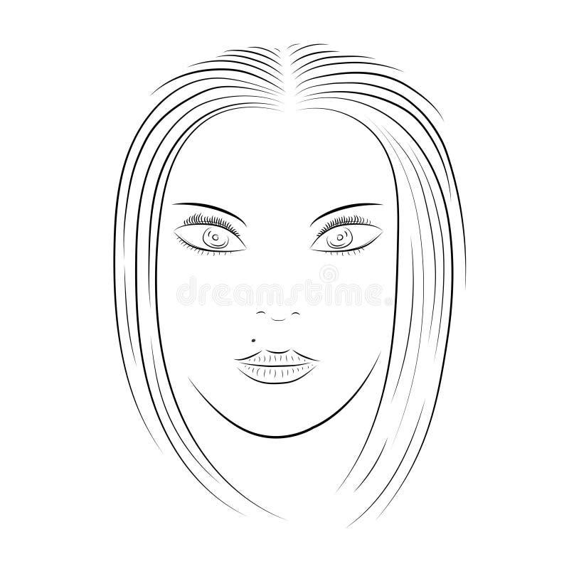 Fronte della ragazza illustrazione di stock