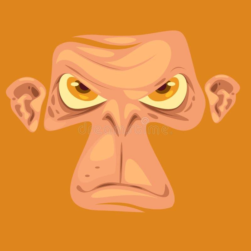 Fronte della scimmia dell'illustrazione illustrazione vettoriale