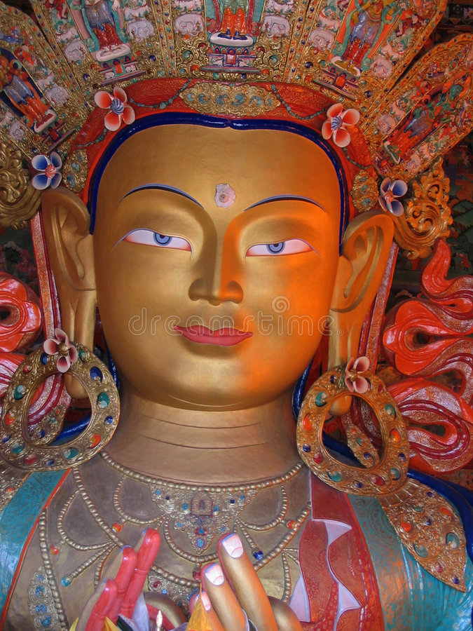 Download Fronte Della Statua Del Buddha Fotografia Stock - Immagine di occhio, colore: 202808