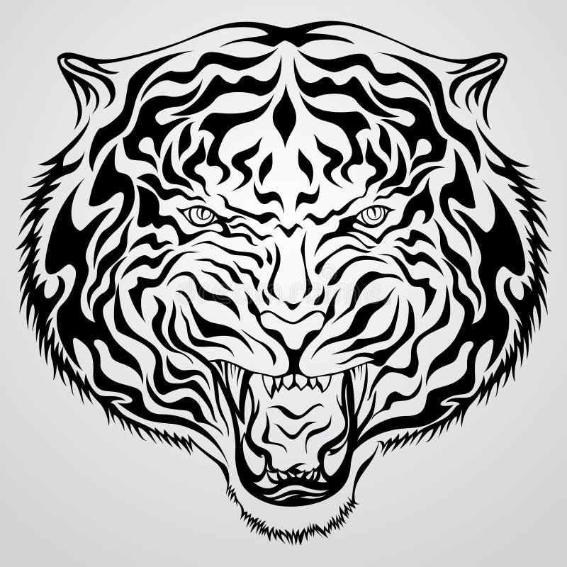 Fronte della tigre royalty illustrazione gratis