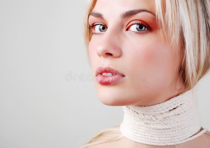 Fronte di bella donna fotografie stock