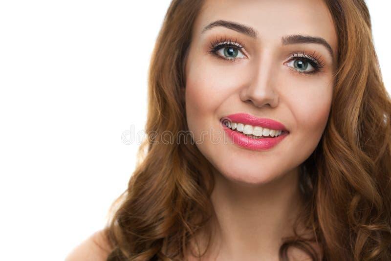 Fronte di bella donna immagini stock libere da diritti