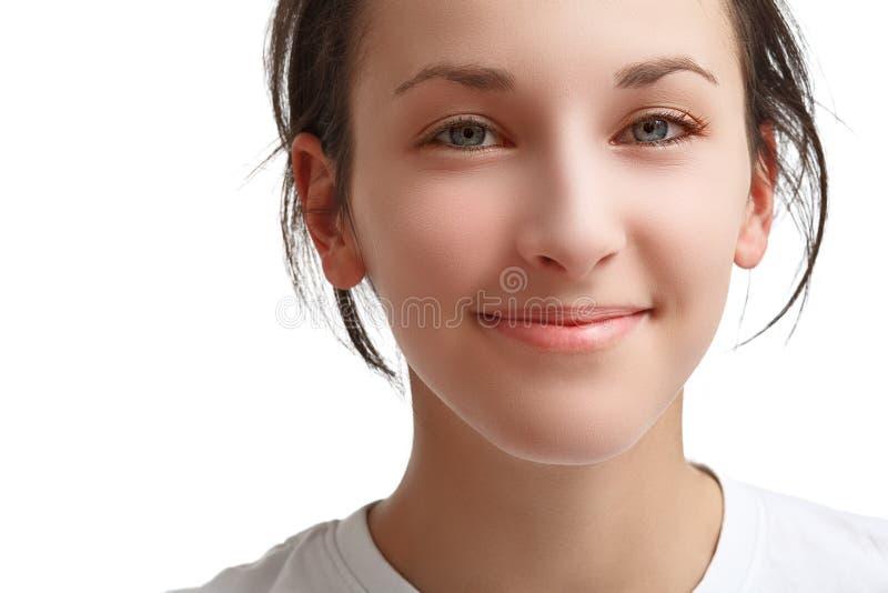 Fronte di bella ragazza sorridente immagine stock libera da diritti