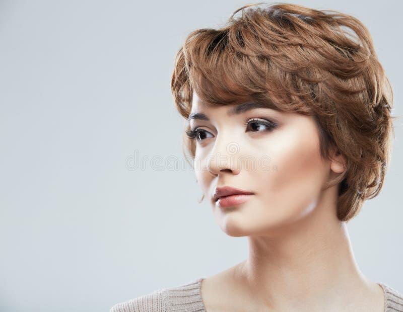 Fronte di bellezza di giovane donna fotografia stock libera da diritti