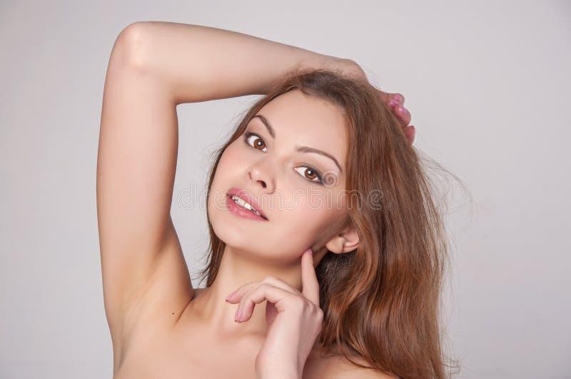 Fronte di bellezza di giovane donna fotografia stock