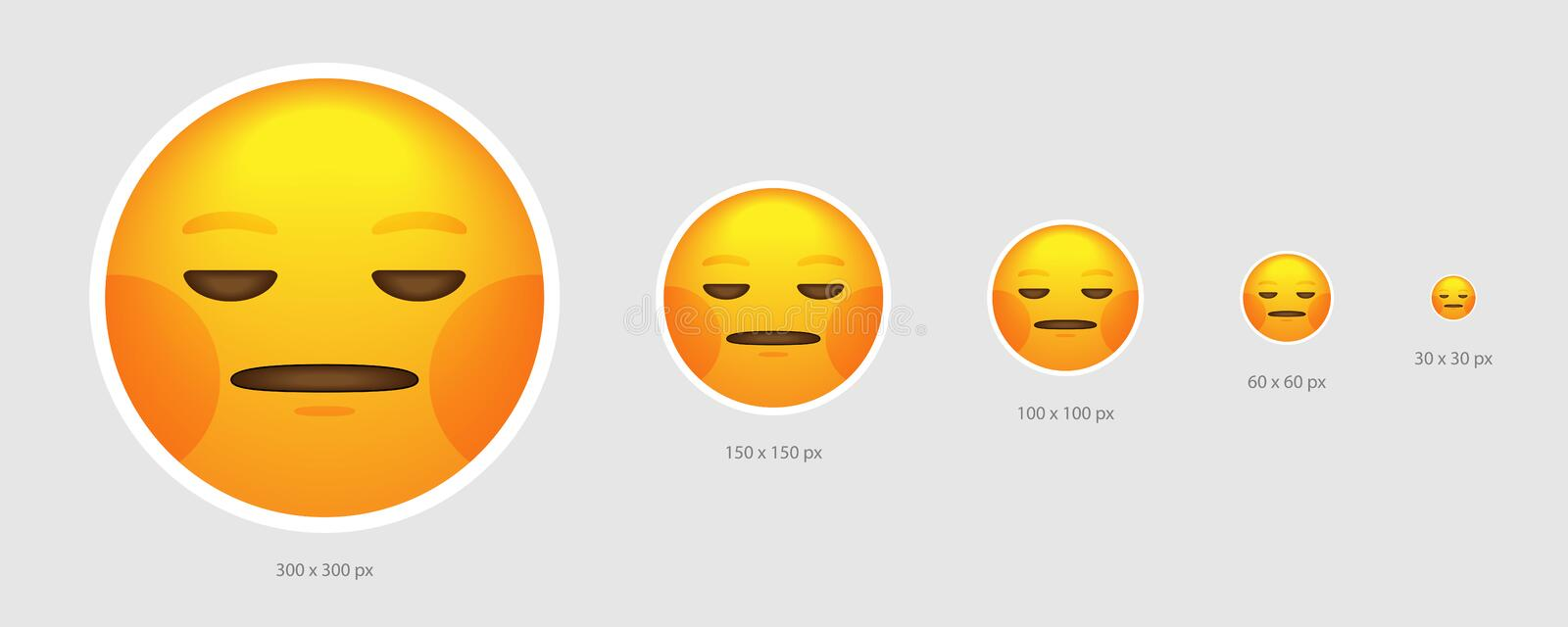 Fronte di emoji di indifferenza illustrazione di stock