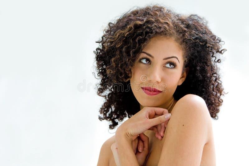 Fronte di giovane brunette fotografia stock