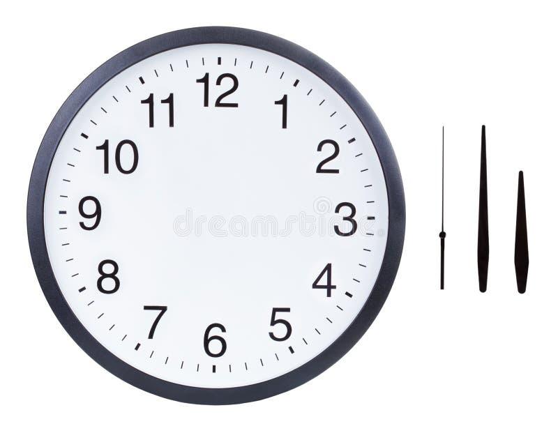 Fronte di orologio in bianco fotografia stock