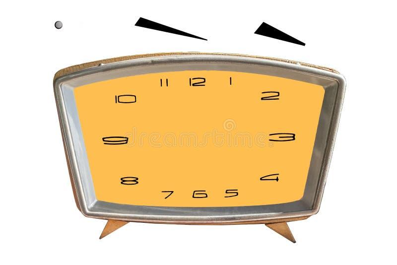 Fronte di orologio in bianco con l'ora, lancette dei minuti isolate su fondo bianco Fissi appena il vostro proprio tempo fotografia stock libera da diritti