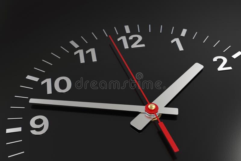 Fronte di orologio classico con l'ora, il minuto e le seconde mani royalty illustrazione gratis