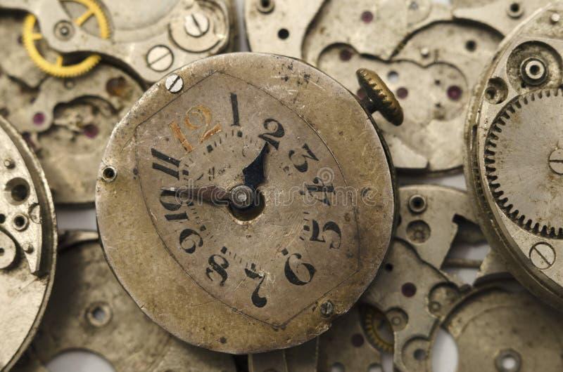 Fronte di orologio d'annata immagini stock libere da diritti