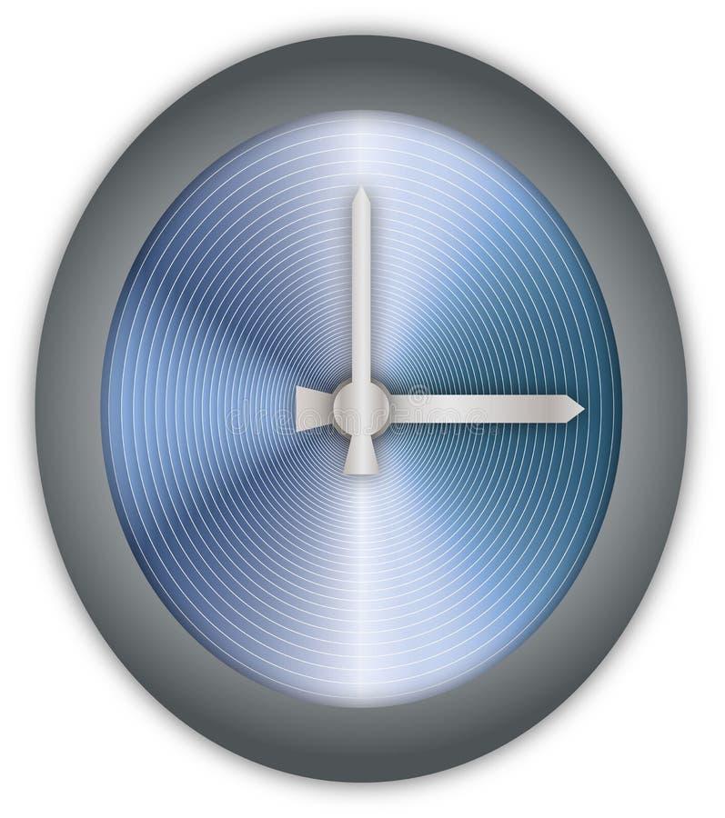 Fronte di orologio dell'acciaio inossidabile immagini stock libere da diritti