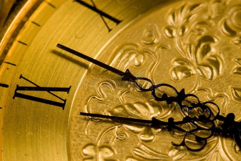 Fronte di orologio dell'oggetto d'antiquariato fotografie stock