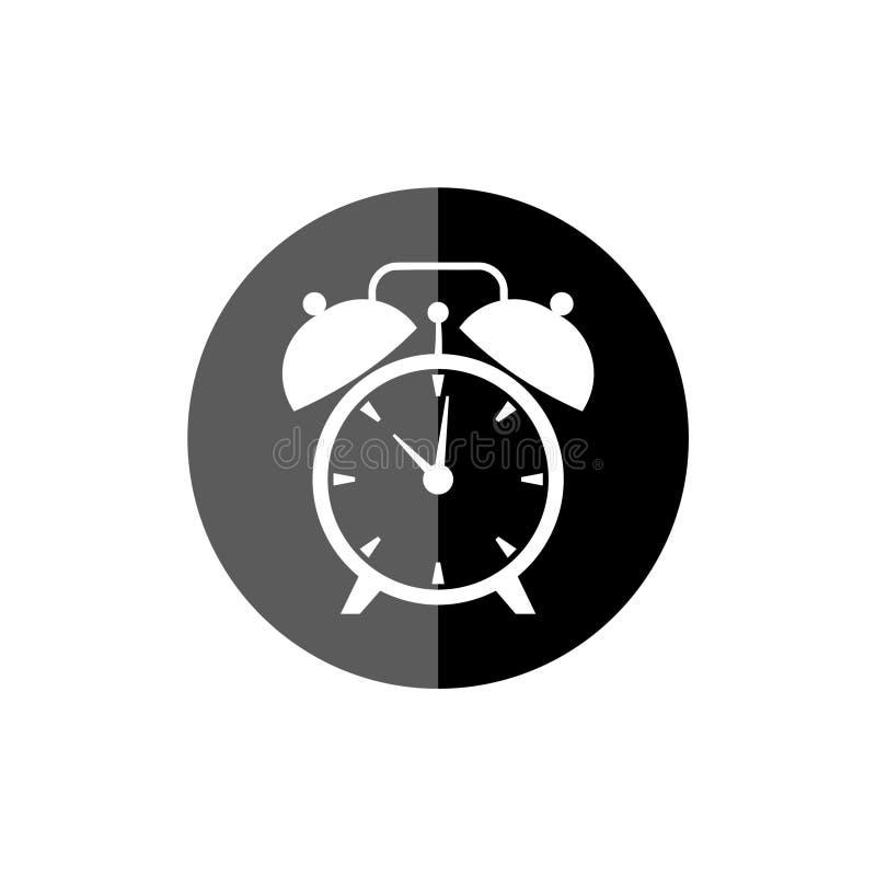 Fronte di orologio semplice, fronte dell'orologio o di quadrante, icona dell'orologio o logo illustrazione di stock