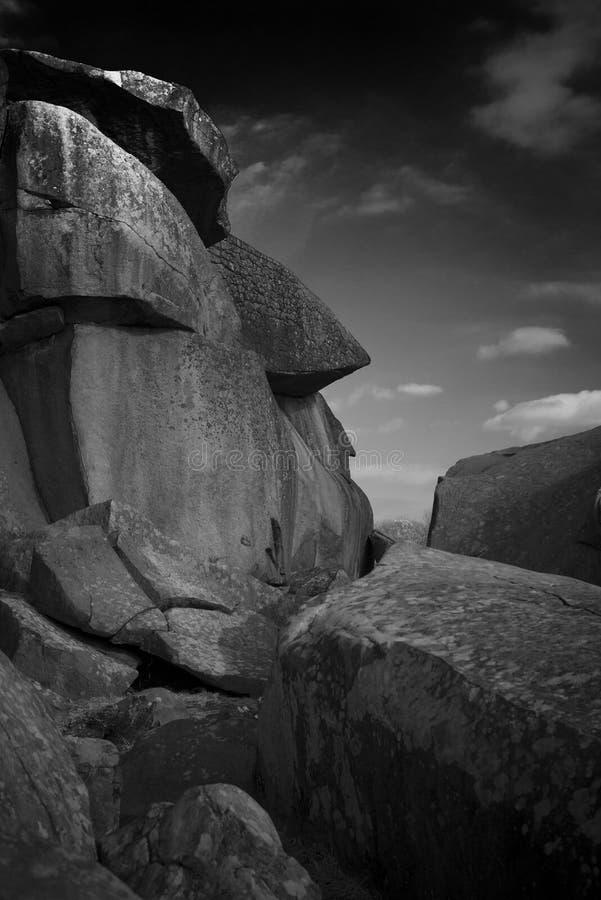 Fronte di pietra, diavoli tana, Gettysburg, Pensilvania fotografia stock libera da diritti