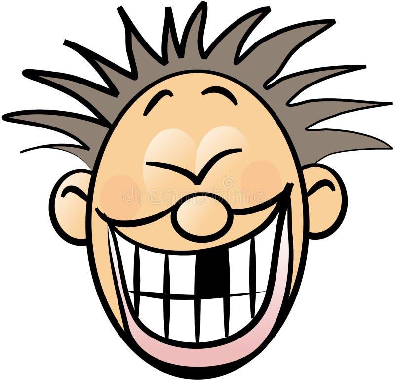 Fronte di smiley con un dente mancante illustrazione di stock