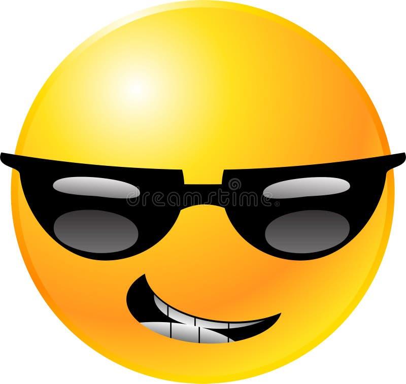 Fronte di smiley del Emoticon illustrazione di stock