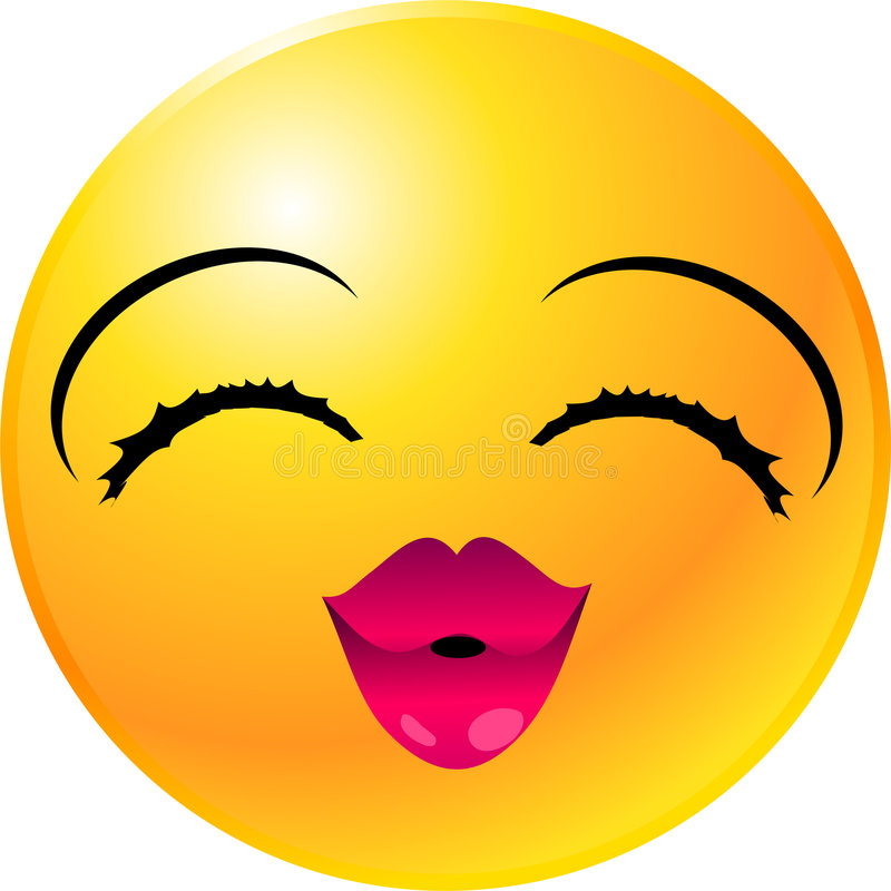 Fronte di smiley del Emoticon royalty illustrazione gratis