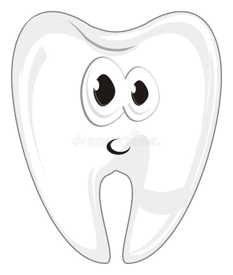 Fronte di sorpresa dei denti illustrazione vettoriale